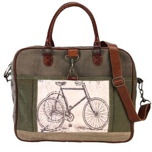 Handbags - NEW Green Bicycle Canvas Bag